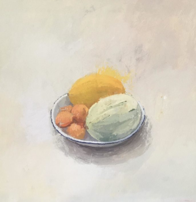 oil Painting still life with melons