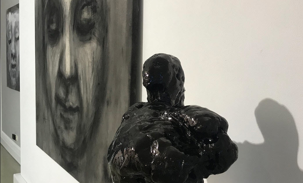 Object 2 by Martin Bloeck with Painting Marc Prat in Wiesbaden